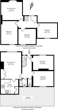 Large floorplan for Potters Grove, New Malden, KT3