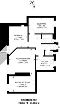 Large floorplan for Dog Kennel Hill Estate, East Dulwich, SE22