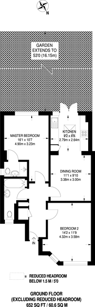 Large floorplan for Canterbury Road, North Harrow, HA1
