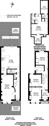 Large floorplan for Grantham Road, Chiswick, W4