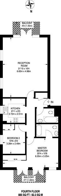 Large floorplan for Fletcher Street, Tower Hill, E1