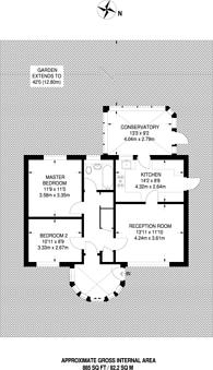 Large floorplan for Sutton Avenue, Woking, GU21