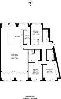 Large floorplan for Nine Elms, Nine Elms, SW11