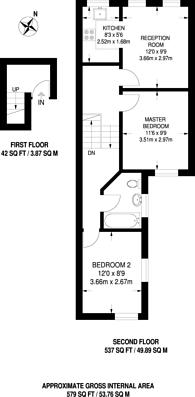 Large floorplan for Elwood Street, Islington, N5