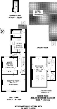Large floorplan for Lower Boston Road, Hanwell, W7