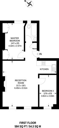 Large floorplan for Russell Road, Kensington, W14