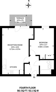 Large floorplan for West Row, North Kensington, W10
