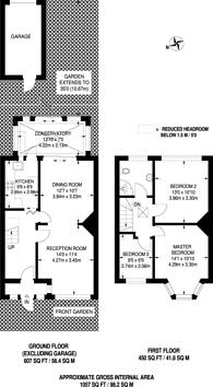 Large floorplan for Streatham Hill, Streatham Hill, SW16