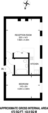 Large floorplan for Exbury House, Brixton, SW9