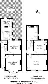 Large floorplan for Trinity Road, East Finchley, N2