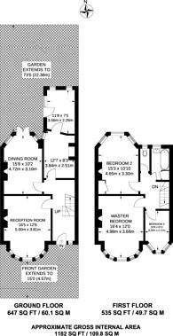 Large floorplan for Berkshire Gardens, Wood Green, N13