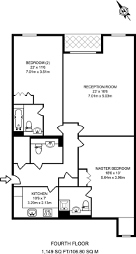 Large floorplan for Monck Street, Westminster, SW1P