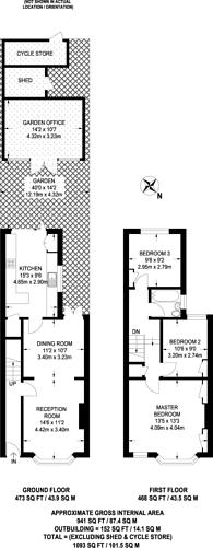 Large floorplan for Arlington Road, Surbiton, KT6