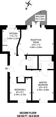 Large floorplan for Choumert Road, Peckham, SE15