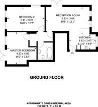 Large floorplan for Marlow Road, Penge, SE20