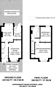 Large floorplan for Cambridge Road, Anerley, SE20