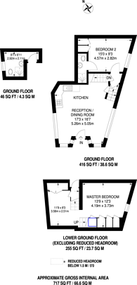 Large floorplan for Middle Road, Harrow on the Hill, HA2