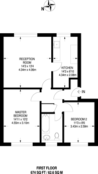 Large floorplan for Whitton Road, Hounslow, TW3