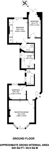 Large floorplan for Beaufort Street, Chelsea, SW3