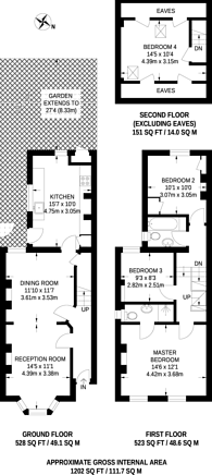 Large floorplan for Lebanon Road, Croydon, CR0