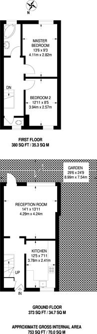 Large floorplan for Chambord Street, Shoreditch, E2