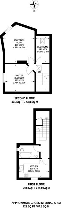 Large floorplan for Sotheby Road, Highbury, N5