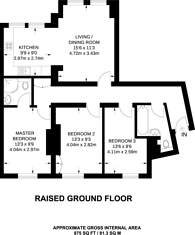 Large floorplan for Hamlet Gardens, Ravenscourt Park, W6