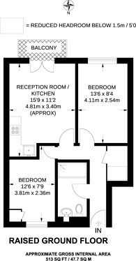 Large floorplan for Barker Drive, Camden, NW1