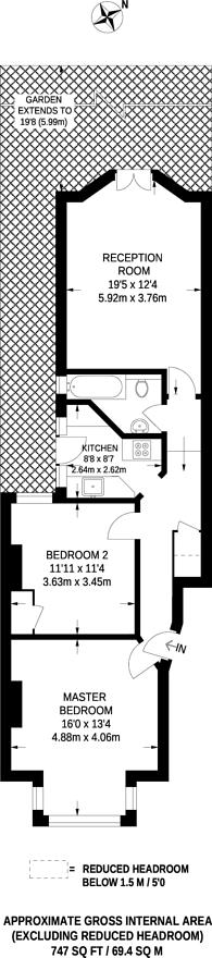 Large floorplan for Brownlow Road, Bounds Green, N11