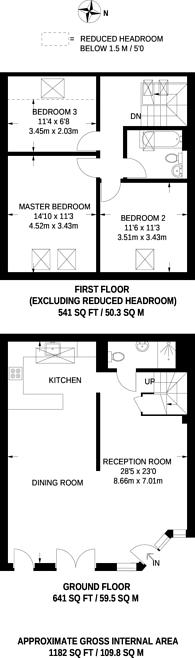 Large floorplan for Coach House Mews, Telegraph Hill, SE14
