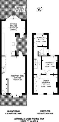 Large floorplan for Chatterton Road, Finsbury Park, N4