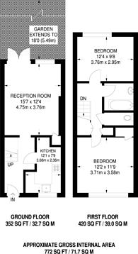 Large floorplan for Buxton Court, Wenlock Basin, N1