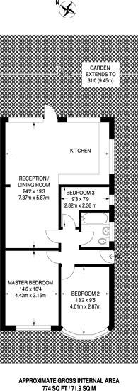 Large floorplan for Bywood Avenue, Shirley, CR0