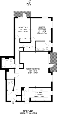Large floorplan for Portman Towers, Marylebone, W1H