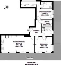 Large floorplan for Highbury Stadium Square, Highbury, N5