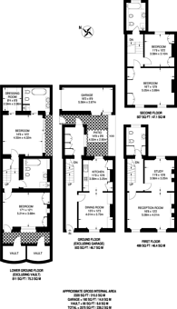 Large floorplan for Anderson Street, Chelsea, SW3