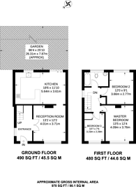Large floorplan for Ramillies Road, Mill Hill, NW7