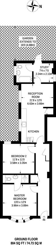 Large floorplan for Westfield Road, Northfields, W13