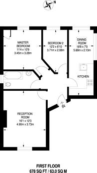 Large floorplan for Dulwich Road, Poet's Corner, SE24
