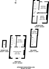 Large floorplan for Tollington Way, Islington, N7