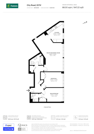 Large floorplan for City Road, City, EC1V
