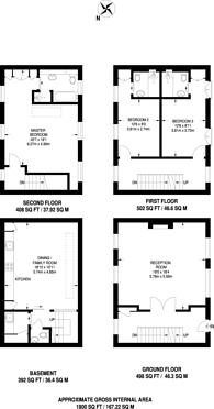 Large floorplan for Napier Place, Holland Park, W14