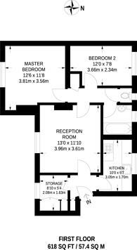 Large floorplan for Casino Avenue, Herne Hill, SE24