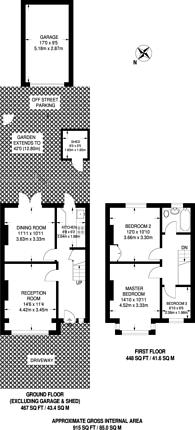 Large floorplan for Manor Road, Mitcham, CR4