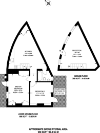 Large floorplan for Sylvester Path, Hackney, E8