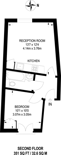 Large floorplan for Fernlea Road, Balham, SW12