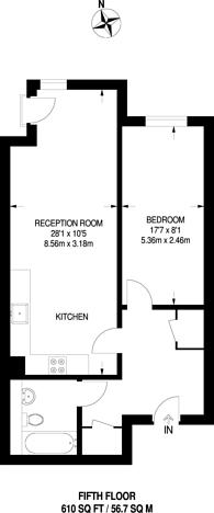 Large floorplan for Salamanca Place, Southwark, SE1
