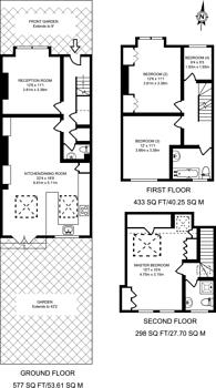 Large floorplan for Effra Road, South Park Gardens, SW19