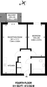Large floorplan for Kingfisher Heights, Silvertown, E16