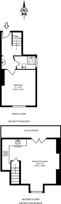 Large floorplan for Ossian Road, Crouch End, N4